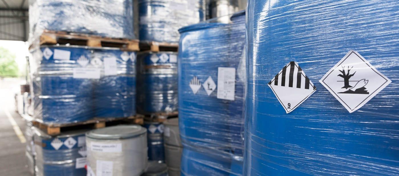 Déchets emballés et étiquetés suivant la réglementation